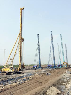 Thi công công trình cầu Bạch Đằng