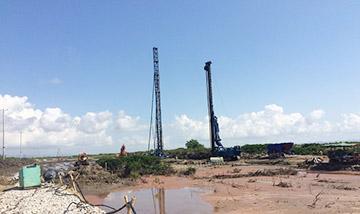 Xử lý nền đất yếu bằng cọc xi măng đất cho Cầu Bạch Đằng